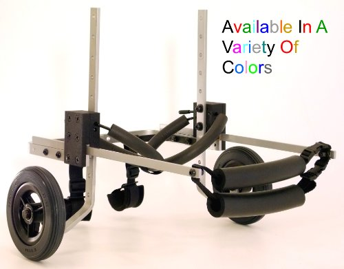 Dog Wheelchair - for small to medium size dog - Color Silver - For Dogs between 15-35 Lbs