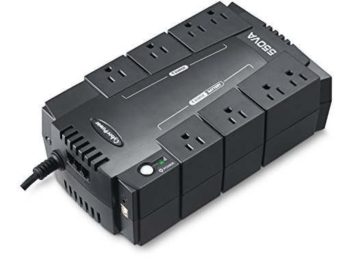 CyberPower CP550SLG Standby UPS System, 550VA/330W, 8 Outlets, Compact by CyberPower (Image #1)