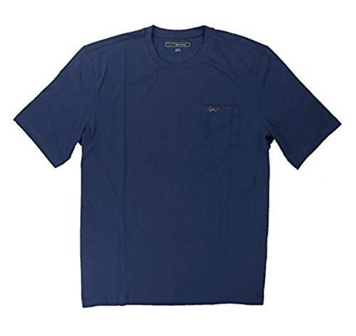 Greg Norman Men's 100% Cotton T-Shirt with Chest Pocket (X-Large, Navy Blue) by Greg Norman (Image #2)