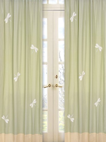 Dragonfly Dreams Window Panels (Green Dragonfly Dreams Set of 2 Window Panels)