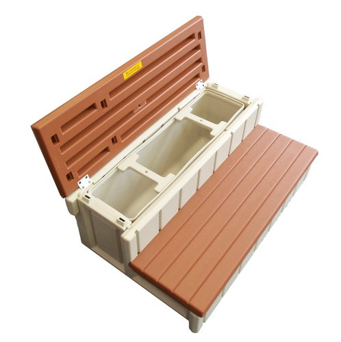 QCA Spas LASS36-SC-R Red Wood Spa Storage Step, 36-Inch, Red Wood