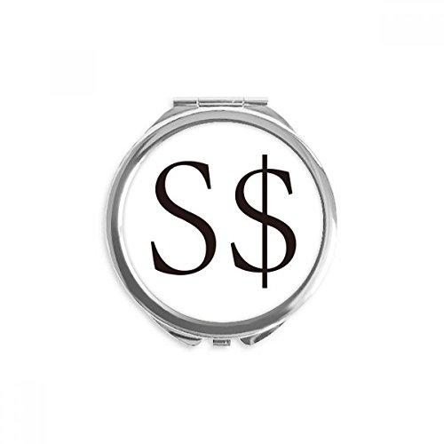 apore Dollar Mirror Round Portable Hand Pocket Makeup ()