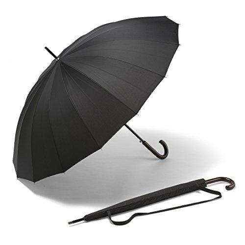 Großer K-POP Schirm - Der beste lange wind- und sturmdichte Schirm - Der stärkste automatische schwarze Schirm - GELD-ZURÜCK-GARANTIE - Für Männer und Frauen