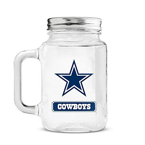 Duck House NFL Dallas Cowboys 20oz Glass Mason Jar (Mug Cowboys Dallas Nfl)