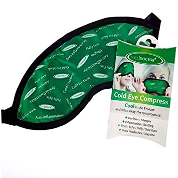 Cold Compress Eye Mask - The Ice Doctor Reusable Cold Eye Compress