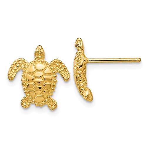14k Sea Turtle Post Earring...