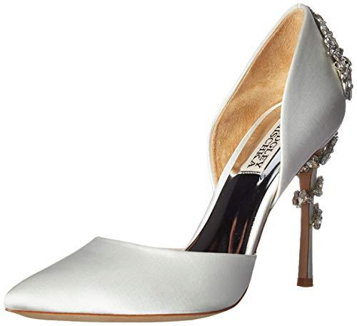 Badgley Mischka Women's Vogue Pump, Soft White Satin, 8 M US