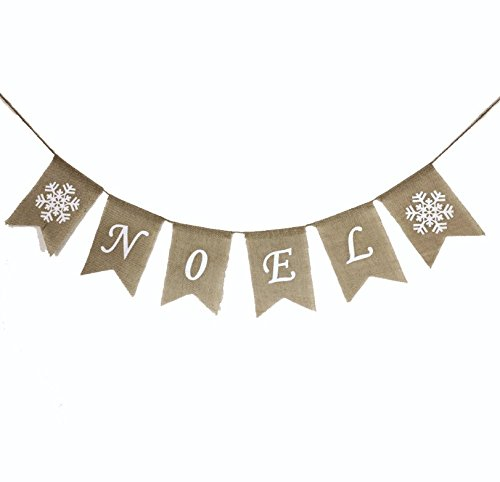 EBTOYS Merry Christmas Banners NOEL Printed Bunting Garlands Party Banner XMAS Party Home Decoration (Christmas Decorations Noel)