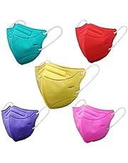 Máscaras KN95 Verde-Água, Amarelo, Vermelha, Rosa, Lilás Lisa Infantil - Kit de 10 Unidades - FPP2 PFF2 - Filtragem > 95% - SOS Mascaras - FBA