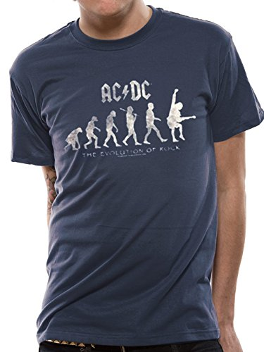 I-D-C AC/DC-Evolution of Rock, Camiseta para Hombre: Amazon.es: Ropa y accesorios