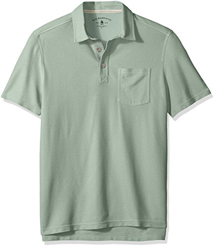 Patrol Oxford - G.H. Bass & Co. Men's Terrain Performance Oxford Cool Polo, Grey Moss, 2X-Large