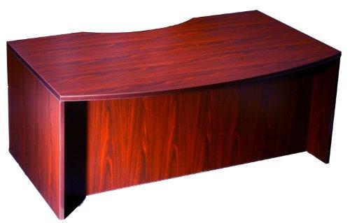 light bow front desk shell