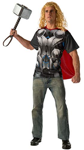 Rubie's Men's Avengers 2 Age Of Ultron Adult Thor T-Shirt and Cape, Multi, Medium