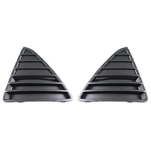 Titanium Plus 2012-2014 Ford Focus Front,Left,Right Bumper Grille Pair (Ford Focus Grille Replacement)