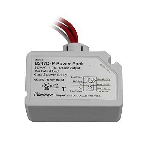 Watt Stopper B347D-P Power Auxiliary Relay Pack 347VAC 60Hz, White ()