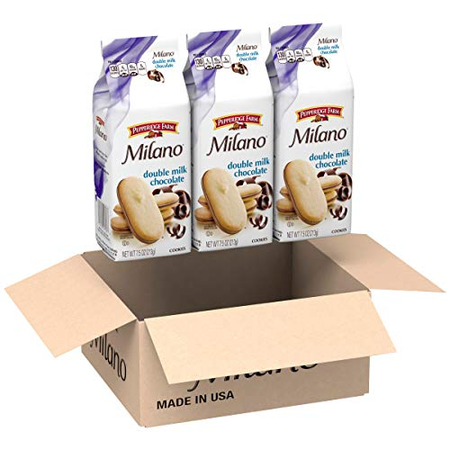 (Pepperidge Farm, Milano, Cookies, Double Milk Chocolate, 7.5 oz, Bag, 3-count )