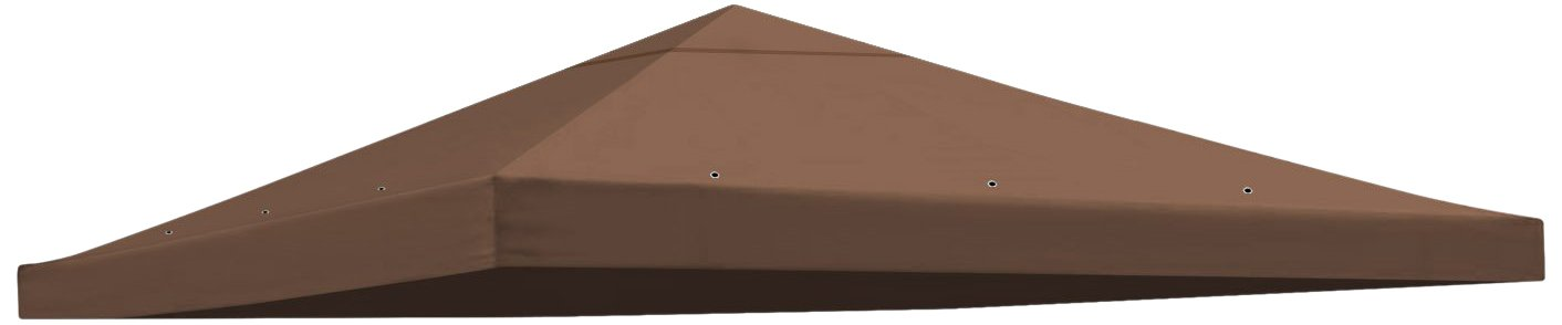 BenefitUSA Replacement Gazebo Canopy Top Patio Pavilion Cover Sunshade Polyester Single Tier, 10'' L x 10'' H, Brown