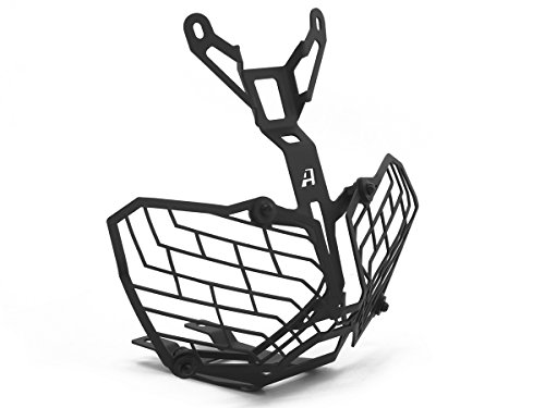 AltRider AT16-2-1104 Black Stainless Steel Mesh Headlight Guard (for the Honda CRF1000L Africa Twin -)