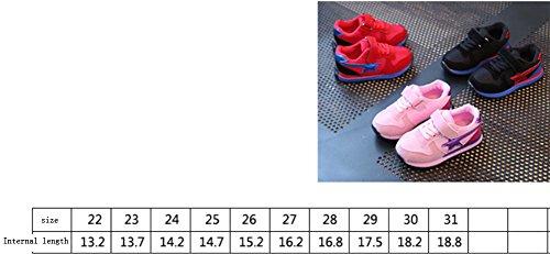 Mädchen Kleinkinder Sandalen Mädchen flach Ballerinas Freizeit Sandalette Ohmais Sandaletten Rot Kinder Halbschuhe 1nwq0pxWH