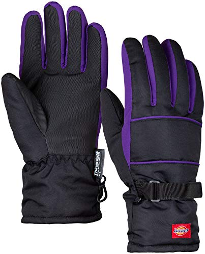Insulated Winter Cold Weather Ski Gloves for Kids (Boys and Girls) Waterproof Windproof (Purple)