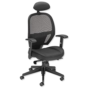 influx amaze chair synchronous with head rest mesh seat