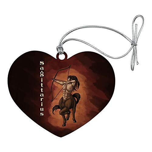 (GRAPHICS & MORE Sagittarius Centaur Zodiac Horoscope Heart Love Wood Christmas Tree Holiday Ornament)