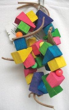 - Bodacious Bites Bird Toy Color: Double Donut - Multi Colored, Size: Medium
