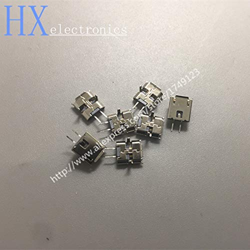 Gimax 500PCS Mini MICRO USB jack connector 2P female plug Mike 2PIN