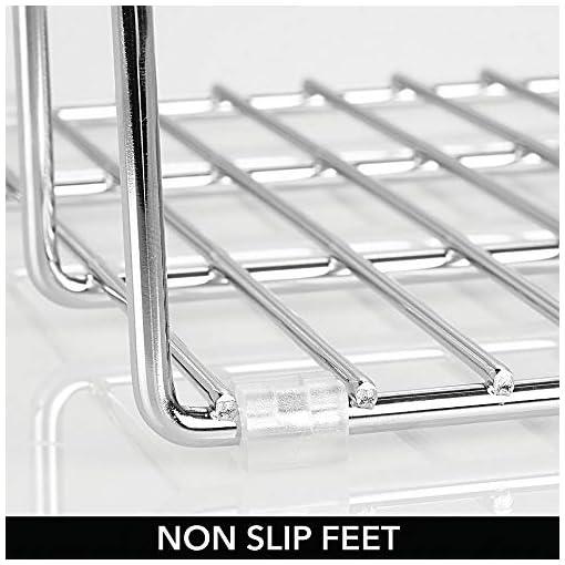 Kitchen mDesign Metal Wire Organizer Rack for Kitchen Cabinet, Pantry, Shelves – Organizer Holder, 3 Slots for Skillets, Frying… pot lid holders