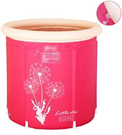 大型子供用プール折りたたみ式バスバレル家庭用ポータブル大人用バスタブ6本の安定した支柱3層厚型断熱材,Pink-65*70cm