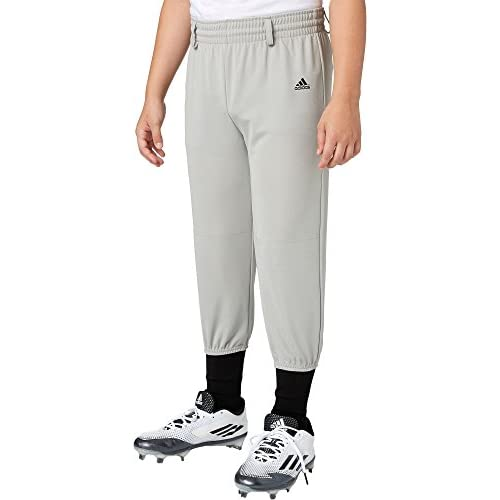 A4 Sportswear Youth /& Adult Elastic Bottom Pro Style Baseball//Softball Pants Grey /& White with Side-Piping