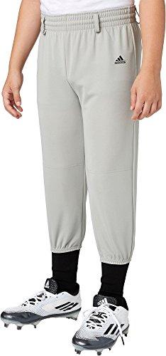 Adidas Boys' Triple Stripe Pull Up Baseball Pants (Grey Baseball, S)