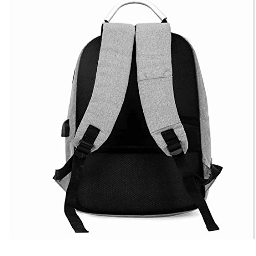 Grey con Backpack Computer Theft Woman For Bag Laptop USB Affari resistenti e porta School durevoli Jiuyizhe Water Anti Travel Uwv4xTZvdq