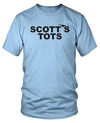 Amdesco Men's The Office Scott's Tots T-Shirt, Light Blue Medium
