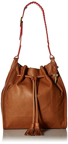 (Fossil Claire Drawstring Bag, Saddle)