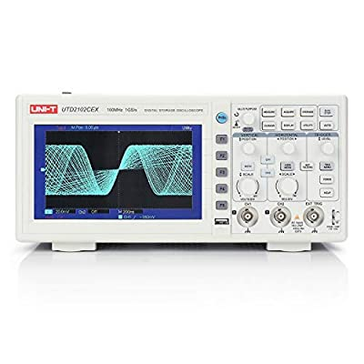 UNI-T UTD2102CEX Digital Storage Oscilloscope, 2 Channel, 100MHz Bandwidth, 1 GS/s Sample Rate, USB Storage
