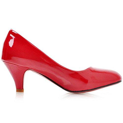 Tacon RAZAMAZA Red de Mujer Medio Zapatos Para nrArZWEY
