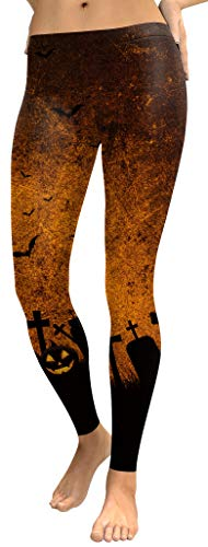 For G and PL Halloween Women Bat Funny Costume Casual Stretchy Leggings S ()