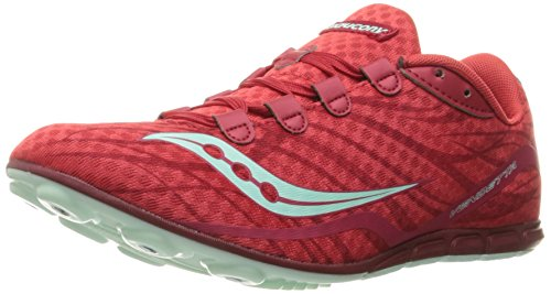 Track Running Spike (Saucony Women's Vendetta Track Shoe, Red/Blue, 10 M US)