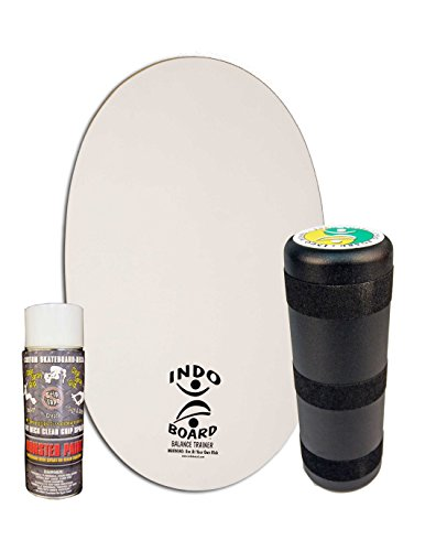 "Balance Board with 6.5"" Roller And 30"" X 18"" Non-Slip Deck – Do-It-Yourself Blank Art Deck ()"