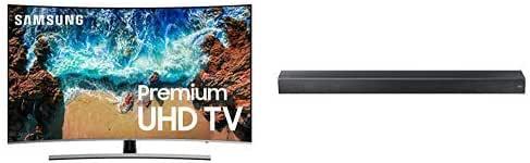 "Samsung Curved 65"" 4K UHD 8 Series Smart LED TV (2018) - UN55NU8500FXZA + Premium Soundbar"
