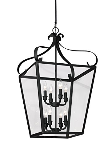 Sea Gull 5119408EN-839 Lockheart Pendant, 8-Light 28 Total Watts, Blacksmith - 28 Sea Gull Lighting
