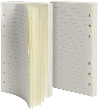 Purture Nachfüllpackung, liniertes Papier, Leder-Tagebuch, liniert, 6-Loch-Einlagen, 320 Seiten, für nachfüllbare Tagebuch-Notizbücher, 2er-Pack (je 160 Seiten)