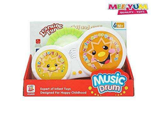 MeeYum Baby Toys Mini Musical Drum w// Lights and Music .