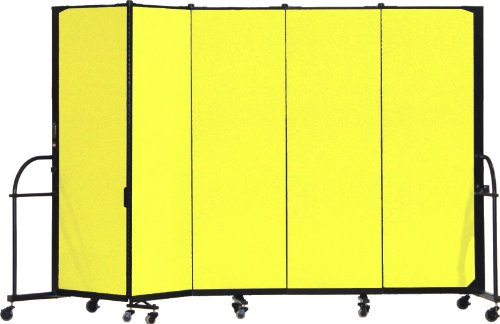 Screenflex Heavy Duty Portable Room Divider (HFSL605-DY) 6 Feet High by 9 Feet 5 Inches Long, Designer Yellow Fabric by Screenflex