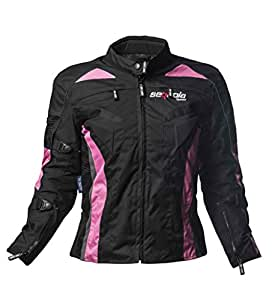 Sequoia Speed Euphoria Ladies Jacket Motorcycle Armor Level 3 Black W Pink Classic Advanced Vented New Armored - Size L - 3 Months Warranty