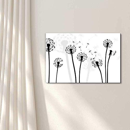 Black and White Style Dandelion