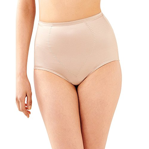 Bali Women's Shapewear Tummy Panel Brief Firm Control 2-Pack,Nude Deluster,Medium