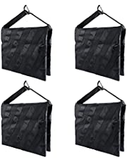 LimoStudio 4 Pieces Saddlebag New Sand Bag Heavy Duty Weight Bag, Black Color, Holds 18lbs for Photo Studio Light Stand & Boom Stand, AGG1845