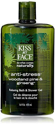 Kiss My Face Bath And Shower Gel Anti-Stress Woodland Pine A